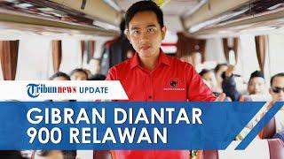 Daftar Calon Wali Kota Solo ke DPD PDI Jawa Tengah, Gibran Rakabuming Diantar 900 Lebih Relawan