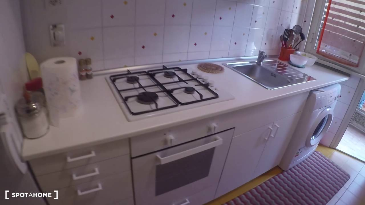 Double Bed in Spacious rooms for rent in 2-bedroom apartment in Pigneto