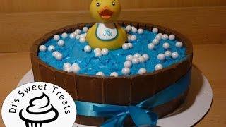 Baby Shower Cake- Kit-Kat Rubber Ducky Cake- Dis Sweet Treats