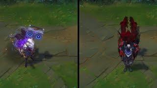 Galaxy Slayer Zed vs PROJECT Zed Skins Comparison - League of Legends