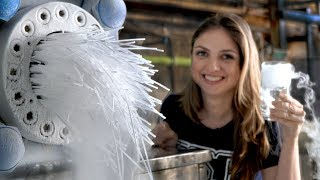 Como é fabricado o gelo seco #Boravê - Video Youtube