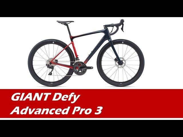 Видео Велосипед Giant Defy Advanced Pro 3 (Gloss Cosmos Navy/Gloss Metallic Red)