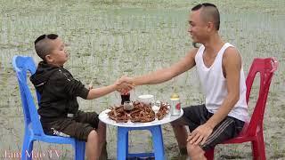 Chân Gà Đu Bai - Cười Ra Nước Mắt Với Màn Chế Biến Thức Ăn Giữa Ruộng Nhà Ông Hàng Xóm
