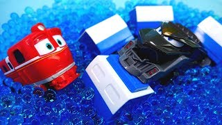 Машины сказки на ночь. История с игрушками Роботы-поезда