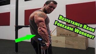 Intense 5 Minute Resistance Band Forearm Workout by Anabolic Aliens
