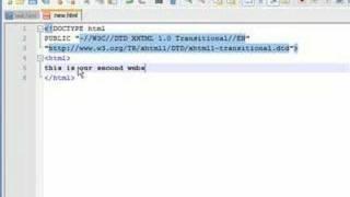 XHTML Tutorial - 7 - Beginning links