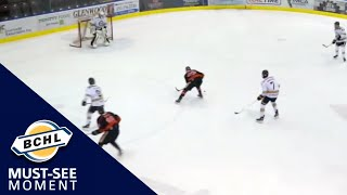 Must See Moment: Tim Washe bats a pass out of mid-air and puts the puck in the net