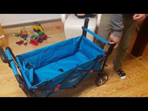 Fuxtec CT700 Kindertransportwagen Bollerwagen aufbauen zusammenklappen