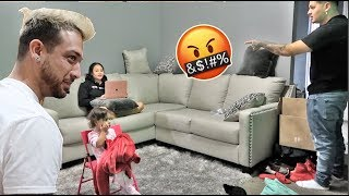 YELLING AT BESTFRIENDS WIFE IN FRONT OF HIM TO GET HIS REACTION!