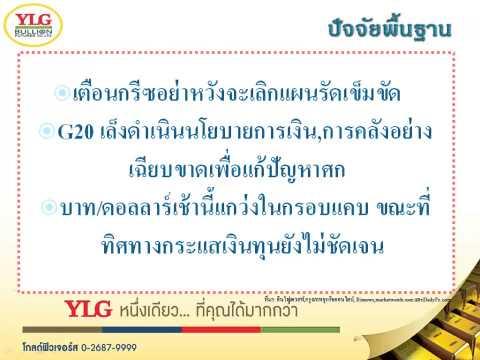 YLG บทวิเคราะห์ราคาทองคำประจำวัน 10-02-15