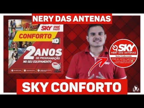 Miniatura do Video - Kit de Antena Parabólica Sky 60 cm + Receptor Digital Sky Pré-Pago Conforto HD