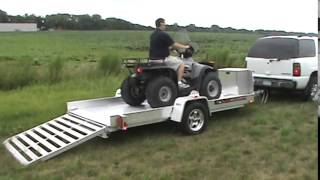 Aluma UT12 ATV Trailer Drive On