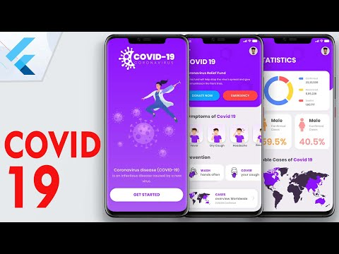 Flutter UI - COVID 19 Application from Scratch | Speed Code