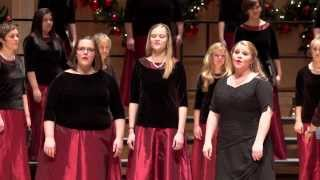 "University of Utah's Women's Chorus performing Tomorrow Shall Be My Dancing Day""- John Rutter"