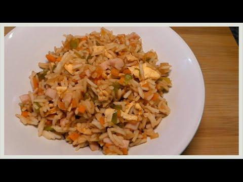 arroz 3 delicias con salsa de soja