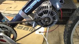 DIY Ebike With Car Alternator V2 Episode 2   Alti Motor Mounted At Last.