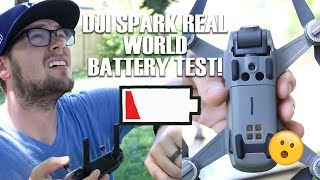 DJI Spark REAL WORLD Battery Test!