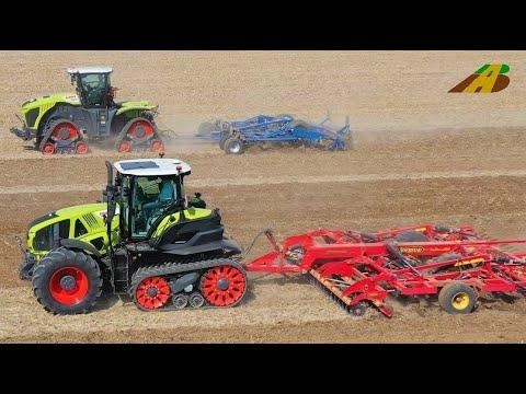 Neu! Claas Traktoren Xerion 5000 Trac & AXION 960 TT Schlepper mit Raupen Neuheit Agritechnica 2019