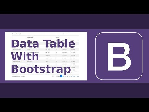 Data Table with Bootstrap 4 (Full Featured)