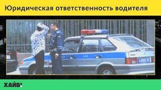 ПДД 2018. Юридическая ответственность водителя