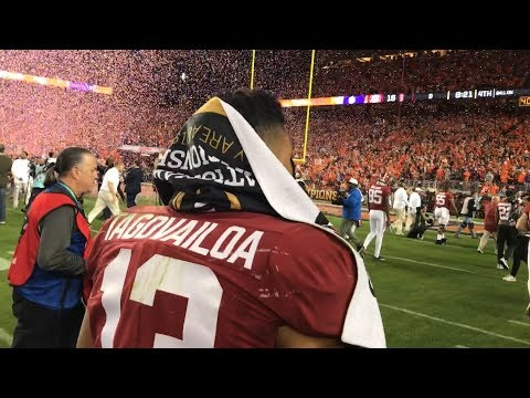 Follow Tua Tagovailoa off the field after the National Championship 6c2bc6ef6
