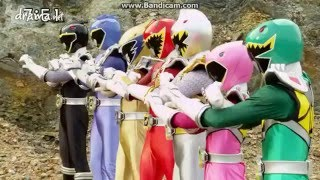 Kyoryuger Silver Rangers First Morph And Battle