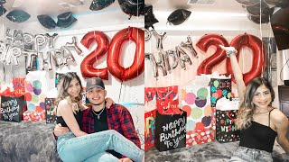 SURPRISING My BOYFRIEND For His 20th BIRTHDAY  *Quarantine Edition*  BIRTHDAY VLOG 2020