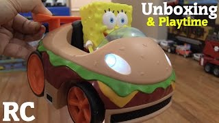 RC Toys for Toddlers and Kids: Spongebob Squarepants Krabby Patty RC Toy Unboxing & Playtime