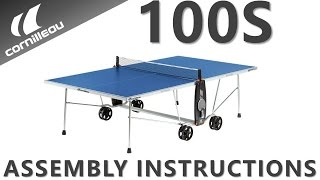 Cornilleau USA 100S Crossover Assembly Instructions - Indoor / Outdoor Tennis Table