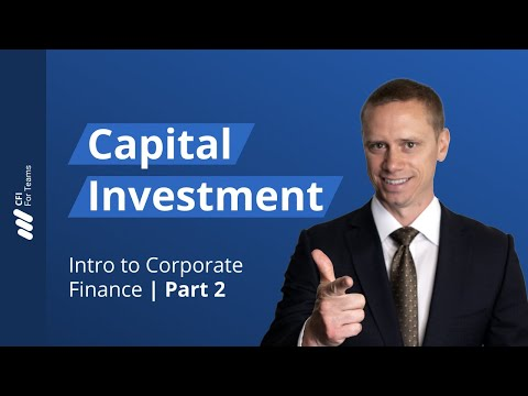 Capital Investment - Introduction to Corporate Finance Part 2 of 7 ...
