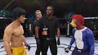 Bruce Lee vs. Woody (EA Sports UFC 3) - CPU vs. CPU