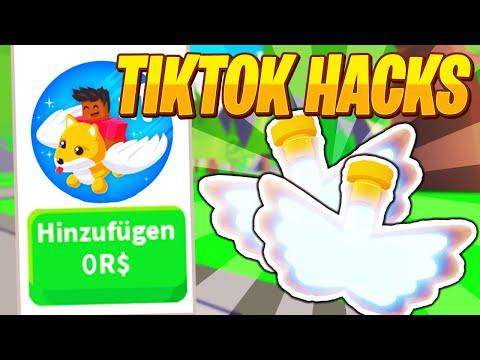 Bekommen wir KOSTENLOSE Fly Potion durch VIRALE Adopt Me TikTok HACKS ? | Roblox/Deutsch