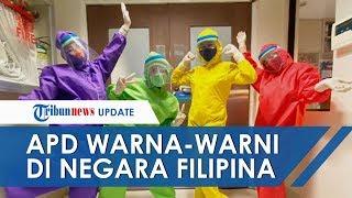 Mirip Teletubbies, Perawat di Filipina Gunakan APD Warna-warni untuk Ceriakan Pasien