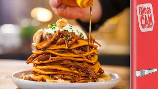 Pulled Pork Pancakes Recipe | FridgeCam