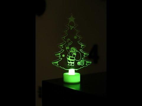 Santa Claus Multi Color LED Light από το Banggood-Διακοσμητικό για τα Χριστούγεννα!