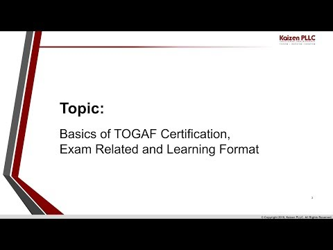 Basics of TOGAF Certification, exam info and how-to read G116 ...