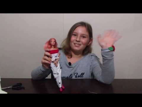 Barbie Çoraptan Kışlık Elbise Yapımı-Kendin Yap