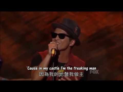 ◆The Lazy Song《懶惰之歌》- Bruno Mars ◇ 現場版    中文字幕