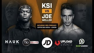 Joe Weller Vs KSI   Copper Box Arena February 3rd 2018