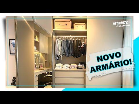 ORGANIZAÇÃO DO NOVO ARMÁRIO DE ROUPAS