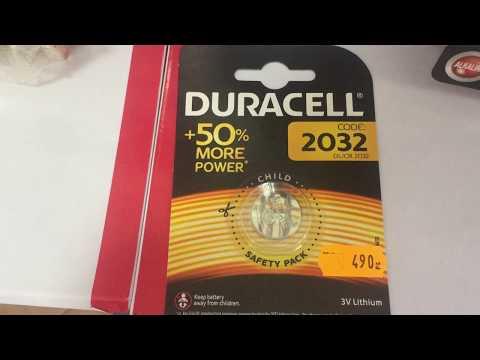 Knopfbatterie CR2032 - Duracell CR2032 - gombelem CR2032