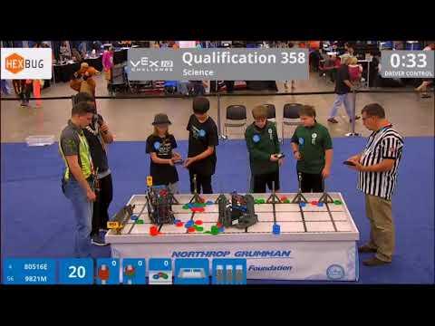 Team 80516E 2018 Worlds Qualification match 358 – Dylan & Parker
