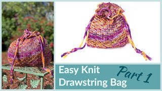 Maggie Knit Bag part 1 Easy Foolproof Long Tail Cast On Knitting Tips for Beginners
