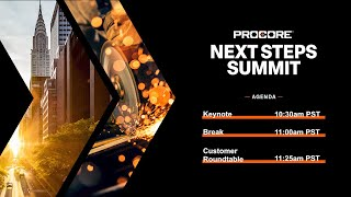 Procore Next Steps Summit