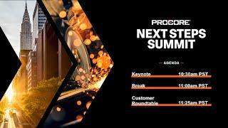 Procore Next Steps Summit