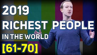 Top Billionaire Rankings from 61st to 70th