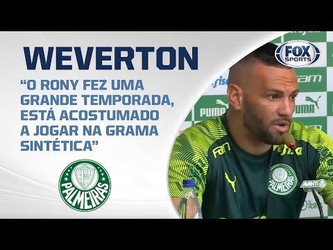 PALMEIRAS AO VIVO! Weverton concede entrevista coletiva direto da Academia de Futebol