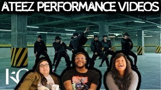 REACTION TO ATEEZ (KQ FELLAS) PERFORMANCE VIDEOS & GROWL With THE HENSONS!
