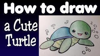How To Draw A Cute Turtle