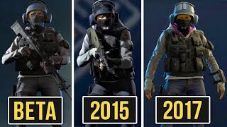BETA vs 2015 vs 2017 - Rainbow Six Siege Comparison Menu (Operators, Rank Icons and More) EVOLUTION